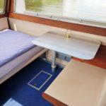 Hausboot mieten, Hausboot Urlaub in Bremervörde, 2 Personen 2 Kinder Nordsee Elbe Oste Stade Innen Bett